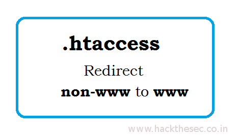 non-www Redirect to www htaccess